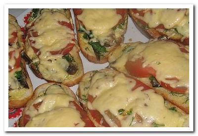 бутерброд со шпротами помидорами и сыром