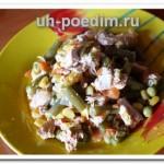 Тушеная куриная грудка с овощами – готовим в обычной сковороде