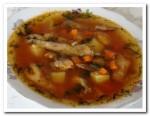 Простой и вкусный суп из кильки в томатном соусе