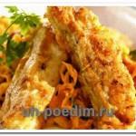 Рецепт жареной рыбы с гарниром