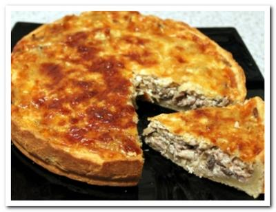 рецепт пирога с фаршем и грибами