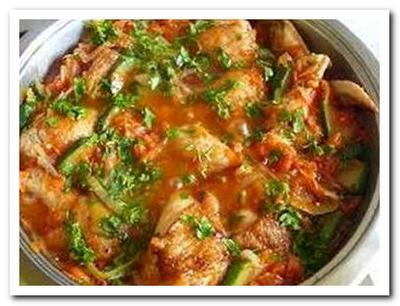 готовим курицу с кабачками