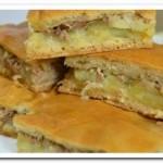 Печем вкусный  пирог с рыбными консервами