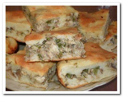 рецепт пирога с рыбной консервой