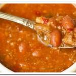 Вкусный суп с мясным фаршем и фасолью