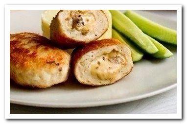 рецепт котлет с грибами и сыром