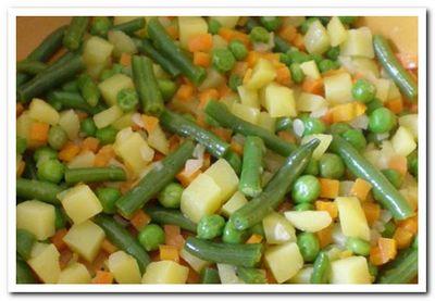 овощи с минтаем на сковороде