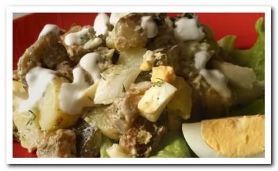 салат с жареными баклажанами рецепт