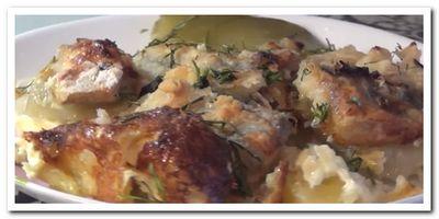 запеканка из рыбы с картошкой