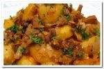 Вкусная картошка с грибами в духовке