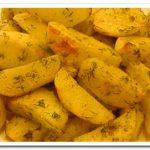 Как вкусно запечь  картофель  дольками в духовке