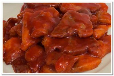 свинина в кисло сладком соусе рецепт