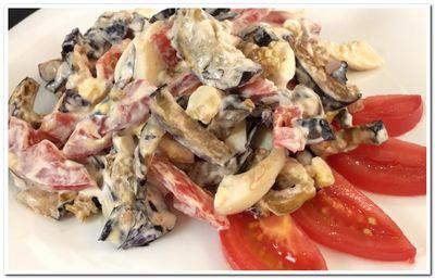 закуска из баклажанов помидоров с чесноком