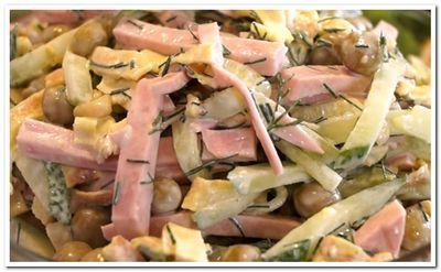 салат с блинчиками из яиц рецепт с фото