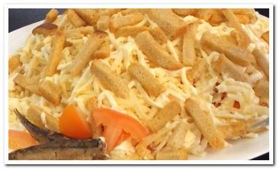 рецепт салата из шпрот