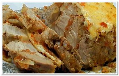 мясо свинина в фольге рецепт