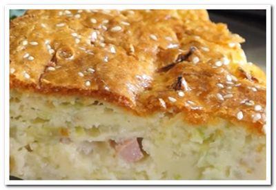 рецепт заливного пирога с капустой на сметане