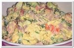Вкусный салат из ветчины, огурца и яиц