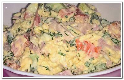 салат с ветчиной и огурцом свежим