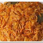 Как приготовить тушеную капусту с рисом