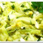 Очень вкусный салат из кабачков с огурцом и яйцом