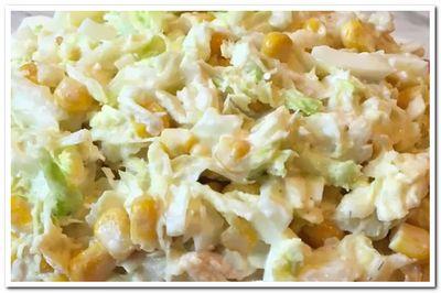 рецепт салата из пекинской капусты
