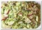 Вкусный холостяцкий салат с редиской
