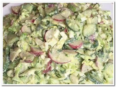салат с редиской и капустой