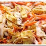 Праздничный салат из курицы и корейской морковки