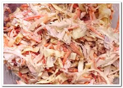 рецепт салата из корейской моркови и курицы