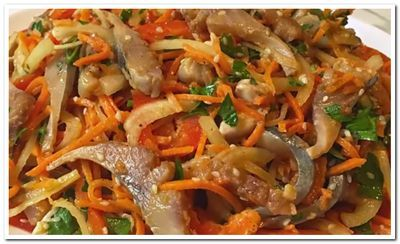 салат с селедкой и морковью