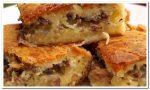 Быстрый заливной пирог из рыбных консервов и картошки