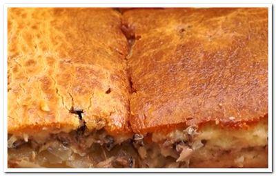 как приготовить заливной пирог с рыбными консервами