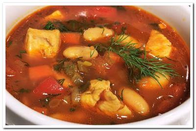 рецепт фасолевого супа с курицей