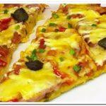 Готовим оригинальную пиццу из батона