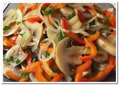 салат с шампиньонами рецепт