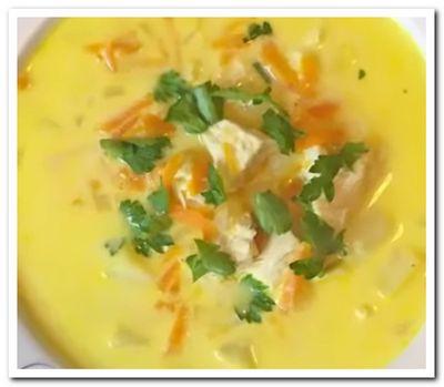 рецепт сырного супа с курицей