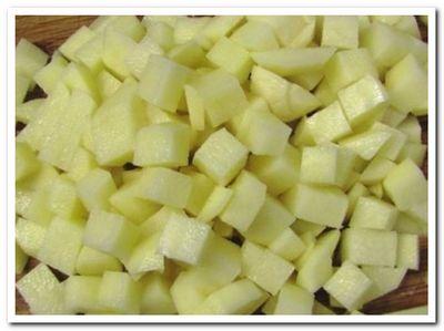 картофель для сырного супа с курицей