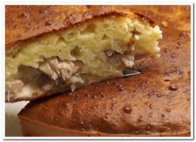 пирог с курицей и картошкой рецепт