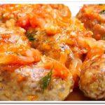 Простой и вкусный ужин – гречаники с фаршем в томатно-овощном соусе