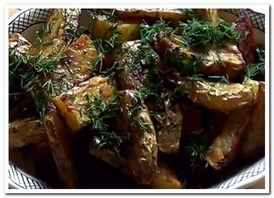 картошка по-деревенски рецепт в духовке