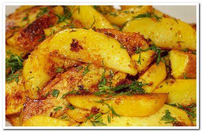 как приготовить картошку по деревенски в духовке