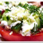 Отличная закуска на праздник – помидоры под шубой