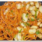 Фасоль с морковью по-корейски
