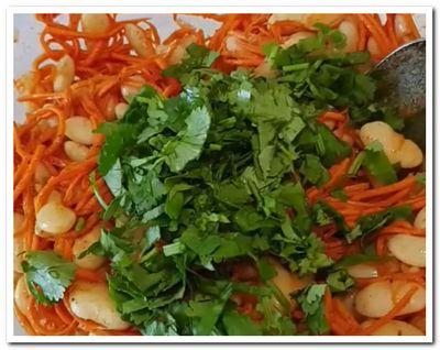 фасоль с корейской морковью