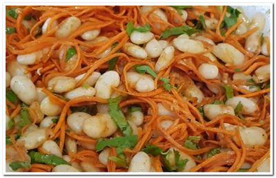 салат из фасоли с корейской морковью рецепт