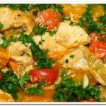Курица с тыквой, запеченная в духовке в ароматном соусе