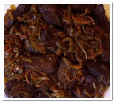 рецепт жареной печенки с луком