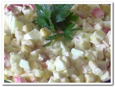 крабовый салат с кукурузой рецепт