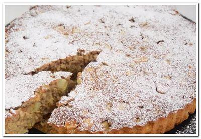 овсяный пирог с яблоками рецепт